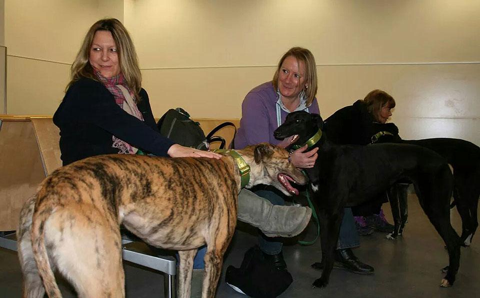 Gill & Lindsay at Gatwick Airport